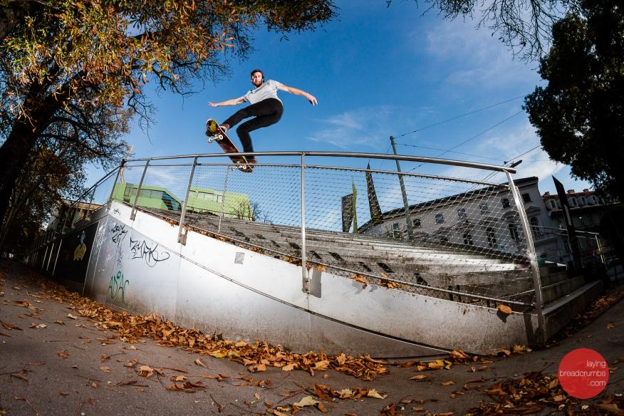 Maximilian Hummel - Fs Boardslide - printed in Kingpin Skateboarding #134